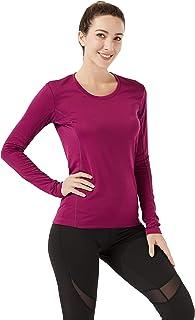 Women's Long Sleeve Workout Shirts Dry Fit Lightweight Sports Running Yoga Tops