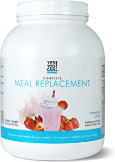 Yes You Can! Complete Meal Replacement, Up to 2 Meals a Day, Helps Lose Weight - Sustituto de Comida Completo con Proteína para Perder Peso 30 Servings, 3.24 Lb - (1470 g), Strawberry Flavor