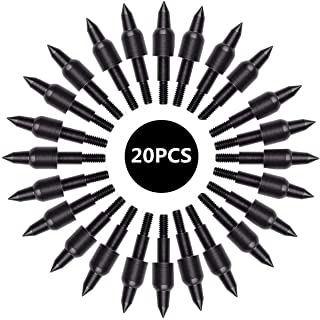sansheng 20PCS Screw in Archery Bullet Points for Arrows,Bullet Points Arrows Field Target Practice Shooting,100 Grain Each