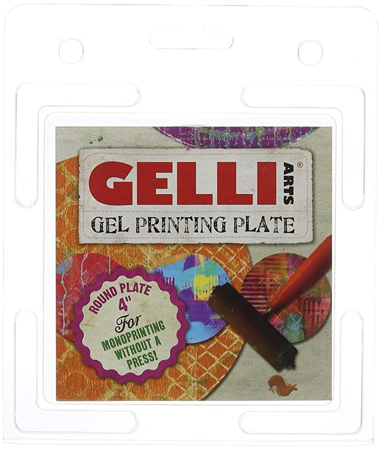 GEL PRINTING PLATE by Gelli Arts | Print gelly press, Craft amazing pictures to show off to your friends, 4X4 Inches Round