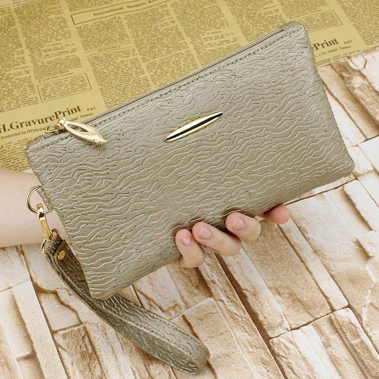 Girls Purse Women's Wallet Lady's Mobile Bag Female PU Purse (color   F)