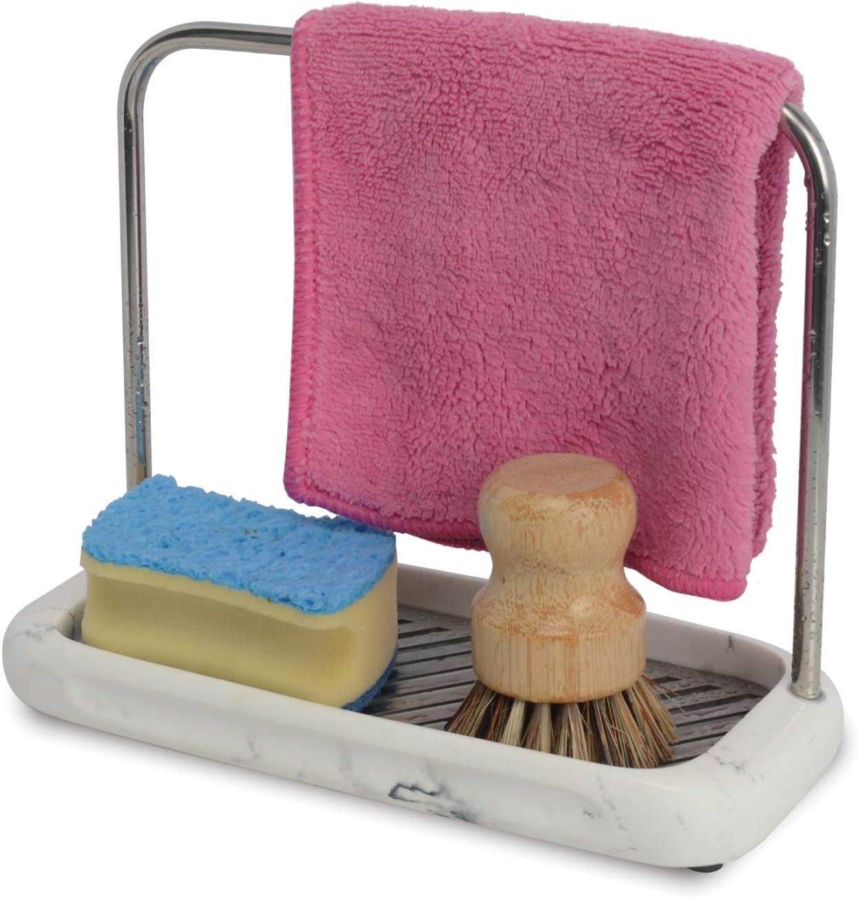 overseas ZCCZ Sponge Holder Dishcloth Max 50% OFF Hanger Caddy Tra Kitchen Rack Sink