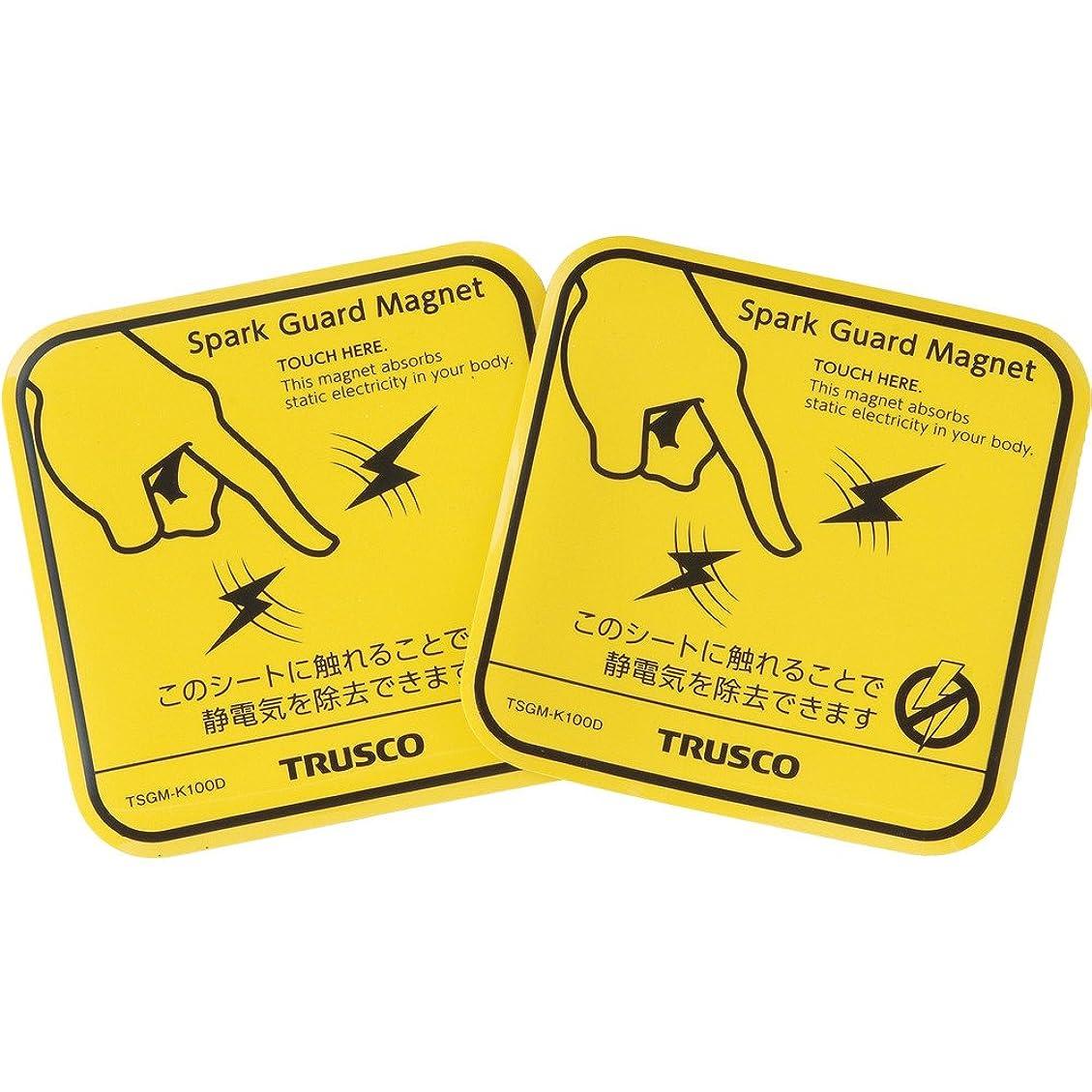 また明日ね爪信仰TRUSCO(トラスコ) スパークガードマグネット100 (2枚入) TSGM-K100D