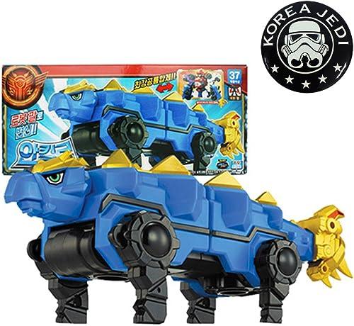 Dino Core Ankylo Dinosaurier-Transformator Roboter-Spielzeug + Pin-Abzeichen 1.7  (Korea Jedi) Freies Geschenk