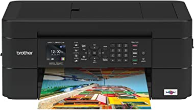 Brother Wireless All-in-One Inkjet Printer, MFC-J491DW, Multi-function Color Printer, Duplex Printing, Mobile Printing,Amazon