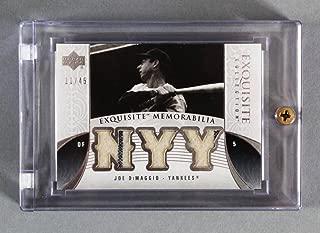 2006 Upper Deck Exquisite Joe DiMaggio Game-Used Yankees Jersey Card 11/45