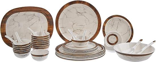 Servewell Melamine Wood Marble Design - Set of 44