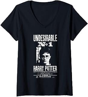 Femme Harry Potter Undesirable No 1 T-Shirt avec Col en V