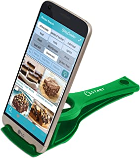 Recipe Holder Stand for Smartphones and Tablets, Keep Your Phone, Kindle, or iPad Convenient While Cooking - Original Kitchen Gadget Phone and Tablet Stand (Jade Green)