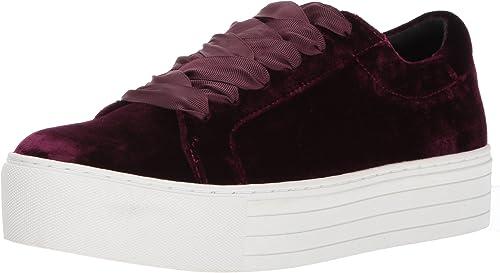 Kenneth Cole Cole New York Wohommes Abbey Platform Lace Up paniers Velvet Fashion, Wine, 10 M US  magasin en ligne de sortie