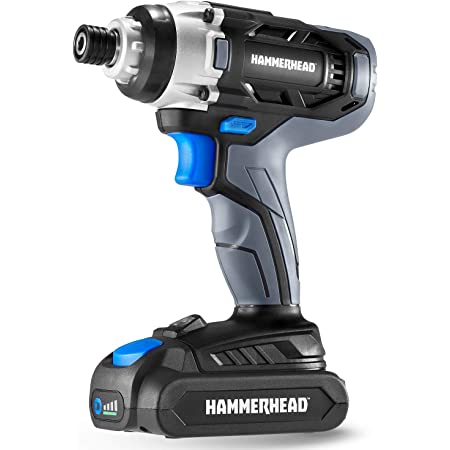 Hammerhead 20V 1/4 Inch Cordless Impact Driver Kit with 1.5Ah Battery and Charger – HCID201