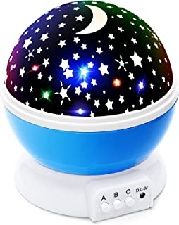 Lizber Baby Night Light Moon Star Projector 360 Degree Rotation – 4 LED Bulbs 9..