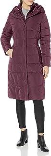 معطف Cole Haan حريمي مبطن من قماش التفتة مع تفاصيل خصر بجوانب مطاطية