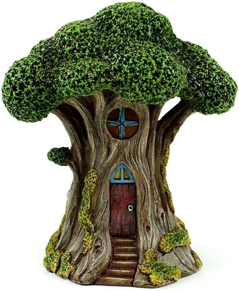 LED Treehouse Lights up MI 55614 Tree Hou Garden Miniature Fairy Kansas City Animer and price revision Mall