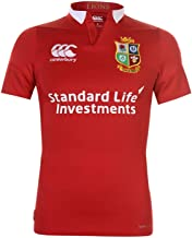 Official Brand Canterbury British and Irish Lions Jersey Mens T Shirt Rugby Red Fan Top