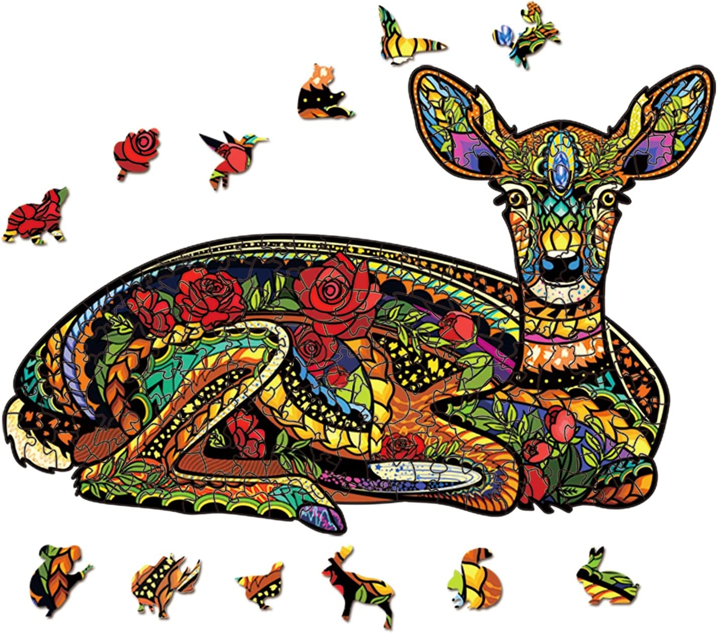 LiKin Ranking TOP10 Wooden Jigsaw Ranking TOP16 Puzzles Unique Animal Shape Pi