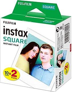 instax Fujifilm 16576520 Square Colour Film, 20 Shot Pack,White