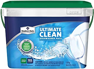 Member's Mark Ultimate Clean Dishwasher Pacs 105 ct - Fresh Scent