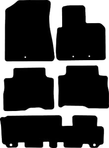 Premier Products Fully Tailored Black Rubber Penny Car Mats fit  Sorento Seat 2013-2015