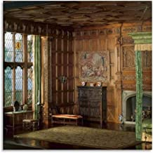 E-2 Engels slaapkamer van de Jacobean of periode, 1603-88-ontworpen door Narcissa Niblack ThornePoster HD canvas print