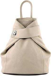 T179 - mochila de mujer de piel italiana