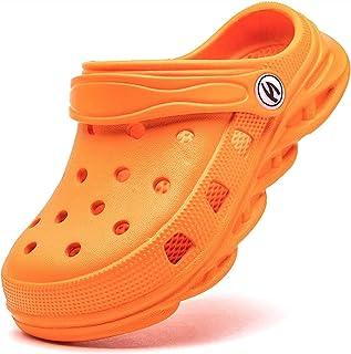 Boys Girls Classic Graphic Grey Garden Closs Slip On Water Shoes, Jardín Unisex Zapatos De Zuecos para Niños Niñas Playa A...