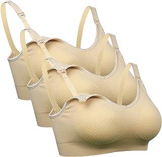iloveSIA Womens Seamless Pregnancy Bra Sleep Maternity Wirefree Nursing Bra 3-Pack