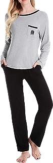 منامات NNORA TWIPS نسائية طويلة الأكمام ملابس نوم ناعمة طقم XS-XL