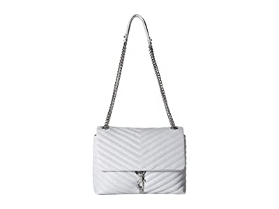 Rebecca Minkoff Edie Flap Shoulder Bag (Ice Grey) Handbags