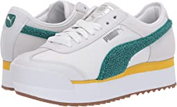 Puma White Heather/Teal Green