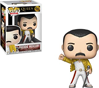 Funko- Pop Vinyl: Rocks: Queen: Freddie Mercury (Wembley 1986) Idea Regalo, Statue, COLLEZIONABILI, Comics, Manga, Serie TV, Multicolore, 33732