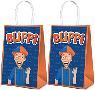 12 Party Bags For Blippi Birthday Party Decorations Supplies