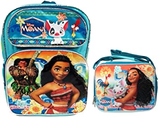 """Disney Moana 16"""" Embossed Backpack with Matching Insulated Lunch Tote"""