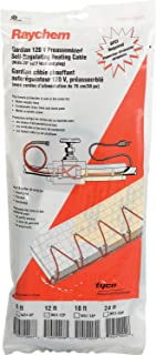 Raychem W51-12P Gardian Preassembled Heat Cable, 12 Ft. 120V