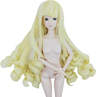 EVA BJD 4inch 5inch Toy Hair Wigs for 1/6 Barbie Doll Wigs & BJD Doll Wigs Flexible Accessory (Light Golden)