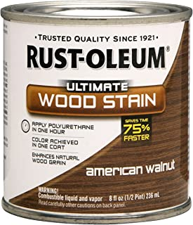 Rust-Oleum 260364 Ultimate Wood Stain, Half Pint, American Walnut