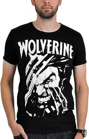 LogosHIRT X-Men Comic - Camiseta para hombre (talla S), color negro