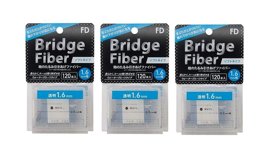 FD ブリッジソフトファイバー 眼瞼下垂防止テープ ソフトタイプ 透明1.6mm幅 120本入り×3個セット