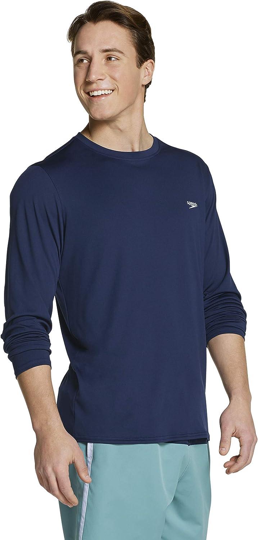 Speedo Men's Cheap mail order specialty store UV Swim Reservation Shirt Basic Sleeve Easy Fit Regular Long