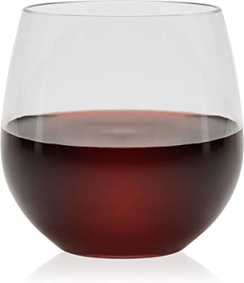 Libbey Indoors Out Break-Resistant Stemless Red Wine Glasses, Set of 4