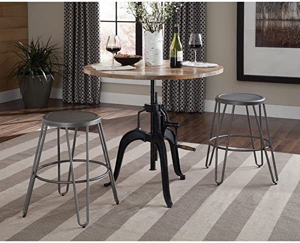 Coaster 122221 CO Galway Height Adjustable Dining Table In Natural
