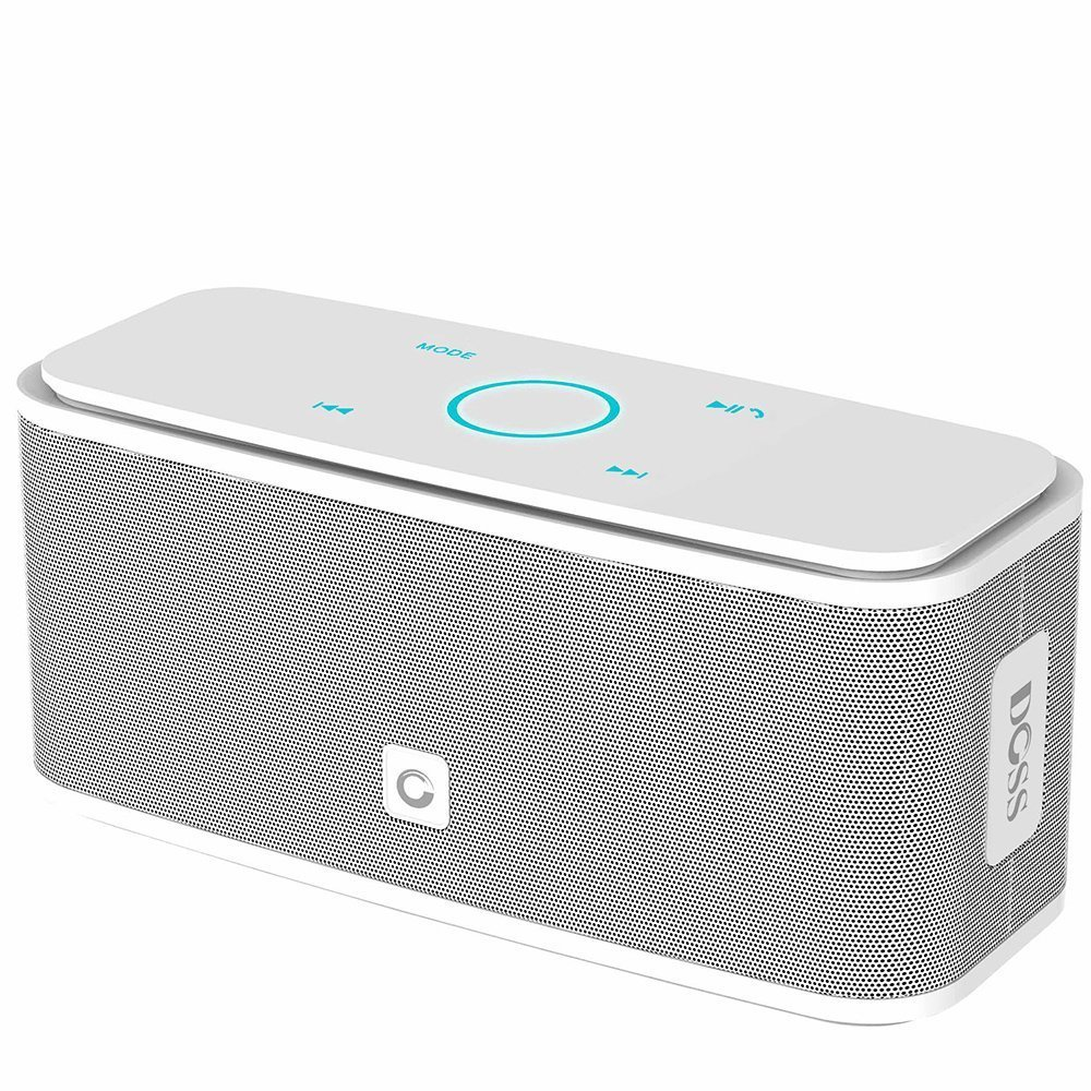 Amazon Com Doss Soundbox Touch Portable Wireless Bluetooth Speakers With 12w Hd Sound And Bass 20h Playtime Handsfree Speakers For Home Outdoor Travel White Electronics