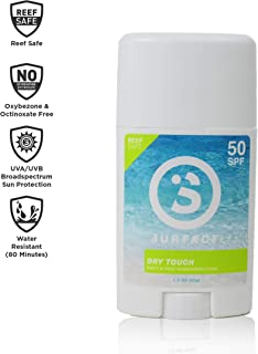 Surface Dry Touch Body Sunscreen Stick - Reef Safe, Ultra-Light & Clean Feeling, Broad Spectrum UVA/UVB Protection, Paraben Free, Hypoallergenic, Water Resistant, Fragrance Free - SPF 50, 1.5oz