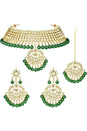 Details about  /Indian Gold Plated Wedding Ethnic Fashion Bridal Earrings Necklace Jewelry Set A
