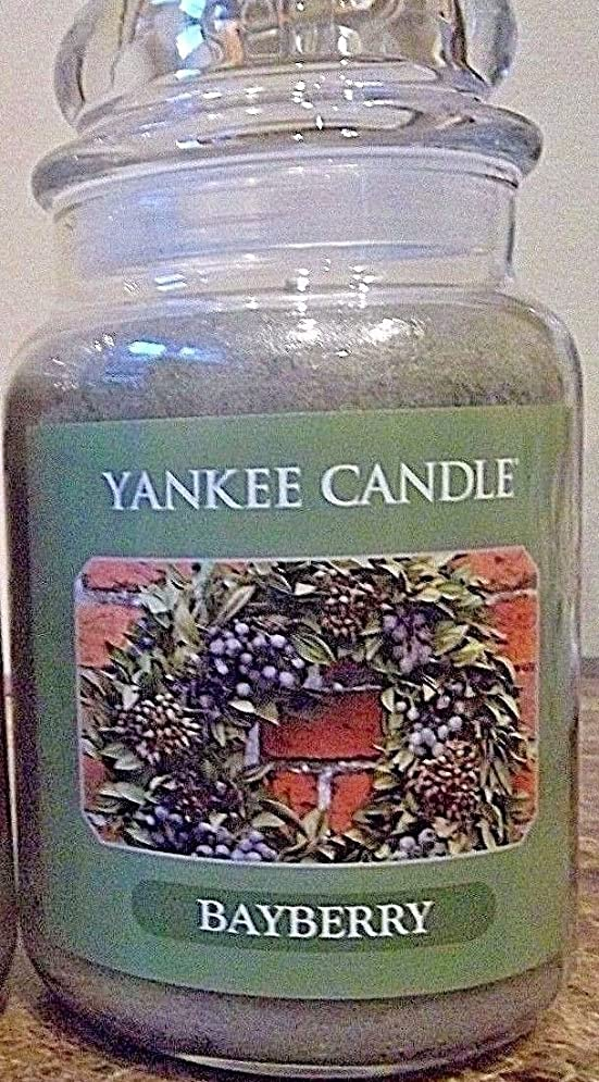 山積みの写真のチョップYankee Candle Large Bayberry Jar Candle