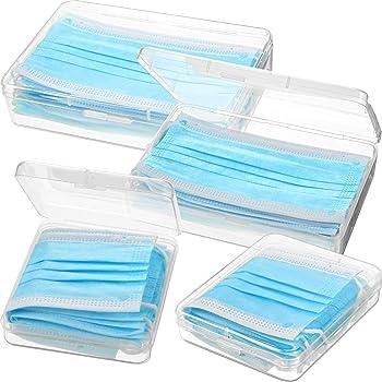 4 Paquetes Organizador de Caja de Almacenamiento de Plástico Transparente Portátiles Carpeta Reutilizable para Cubierta de Cara, Organizador de Clips de Almacenamiento para Prevención de Contaminación: Amazon.es: Bricolaje y herramientas