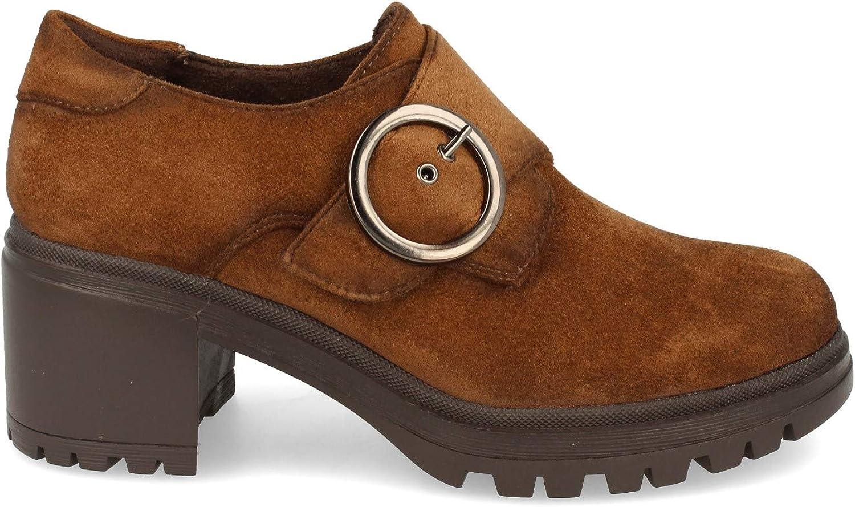 Zapato con Tacon para Mujer y Cierre de Hebilla Otono Invierno 2020 Estilo Blucher Suela Dentada