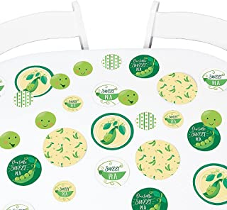Big Dot of Happiness Sweet Pea in a Pod - Baby Shower Giant Circle Confetti - First Birthday Party Decorations - Large Confetti 27 Count