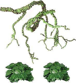 Flexible Bend-A-Branch Jungle Vines Plastic Terrarium Plant Leaves Pet Habitat Decor for Lizard,Frogs, Snakes and More Rep...