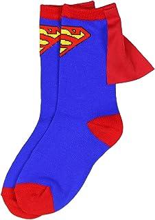 DC Comics Superman Azul Rojo jóvenes muchachos Caped Crew Socks (7-9)